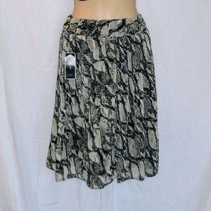 Alfani Reptile Print Mini Skirt Sz XL NWT